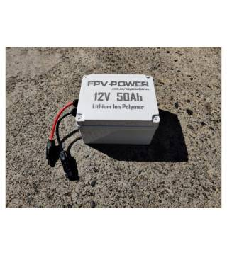 FPV-POWER 12V 50AH LiPo MOTOR BATTERY AND CHARGER COMBO