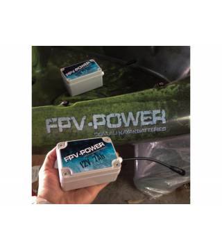 FPV-POWER 12V 7AH KAYAK BATTERY AND CHARGER COMBO